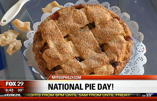Holly Ricciardi featured on Philly's Fox 29 for National Pie Day